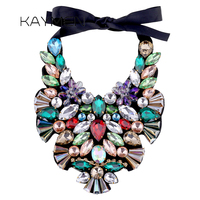 Fashion Luxury Fabric with Crystals Torques Necklace Pendant for Women Party Jewelry Statement Chokers Necklace Bijou NK 01520