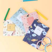 4PCS/Set Cute Mini Vintage Flower Notebook Lovely Animal Notepads for Kids Gifts