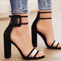 Top Summer Women S Sandals 2017 Mujer Ankle Strap Women Sandals Open Toe Heels Ladies Sandals