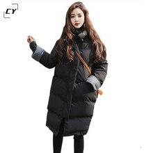 2017 Winter Coat Women Cotton Padded Jackets Warm Overcoat Fashion Thicken Female Parkas Basic Coat Tops Hoodies Hot