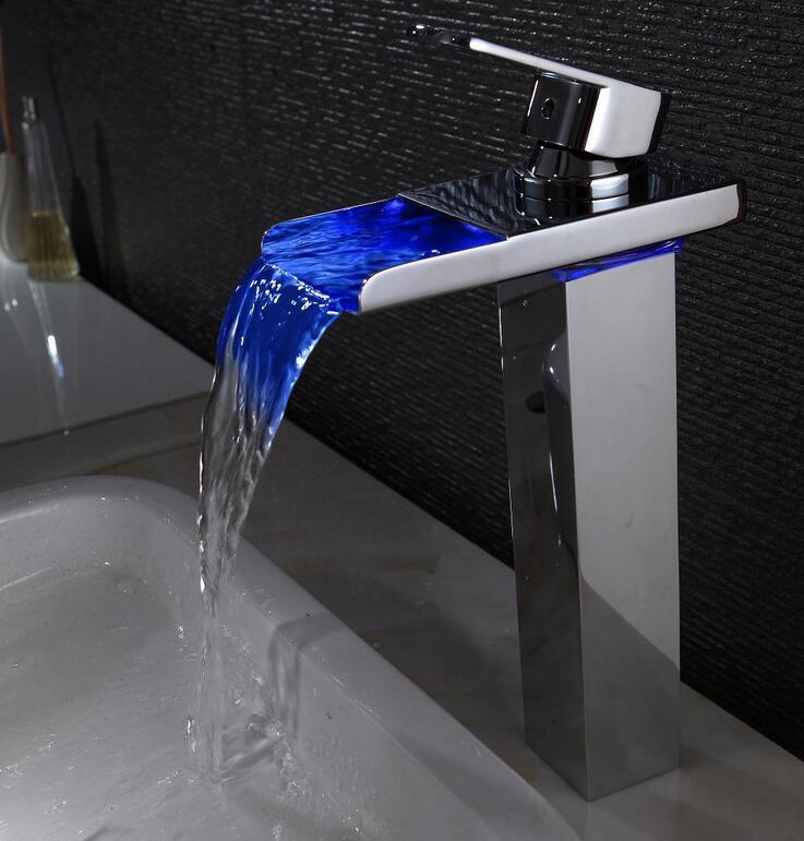 3 Colours change bathroom sink basin faucet mixer,Zinc Alloy ...