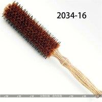 JM-2034 Yele Naylon Yapımı Masaj Kafa Derisi Kuaförlük Tarak kaymaz Sap Ahşap Kol anti-statik Yüksek Sıcaklık Saç tarak