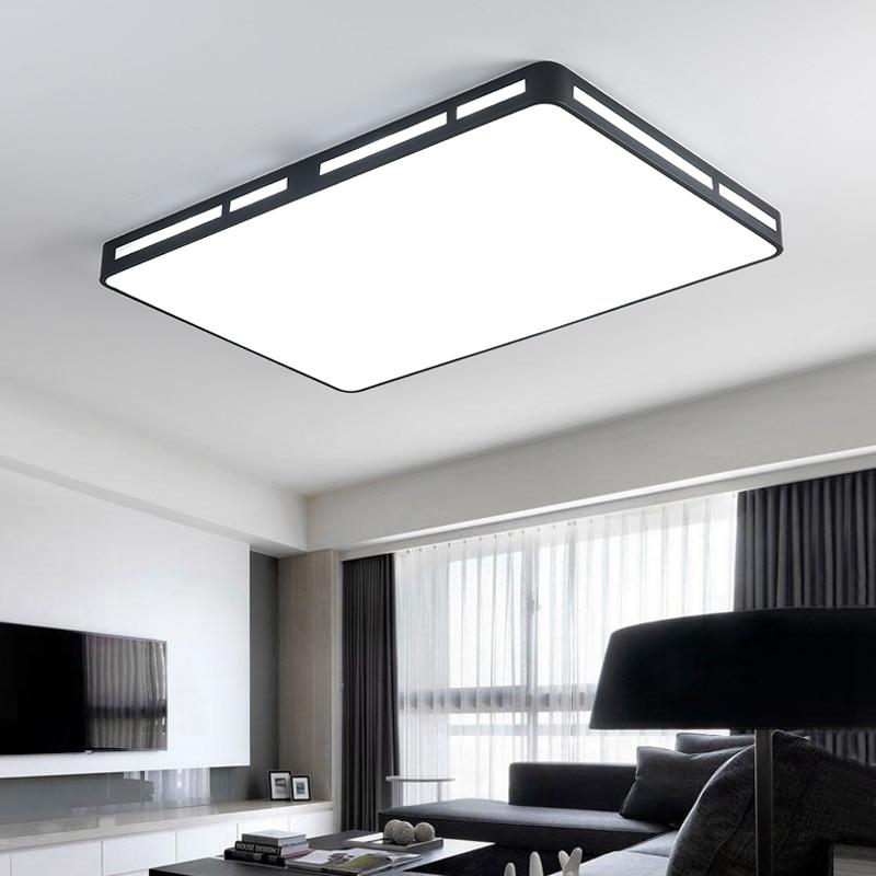Nouveau Design Blanc/Noir De Fer Moderne Led Plafonniers Pour Le salon Chambre Cuisine lampe plafond avize Plafond Intérieur lampe