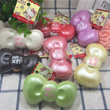 wholesales 70pcs/lot New slow rising hello kitty bow squishy kuwaii squishy toys cell phone charm jumbo Squishies original(China)