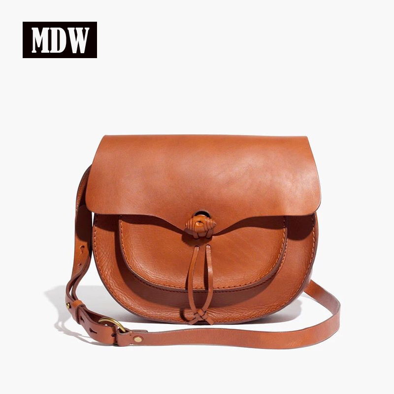 Mansurstudios Women Genuine Leather Saddle Bag, MDW Hight Quality Real Leather Shoulder Bags,  Crossbody Bag,free Shipping