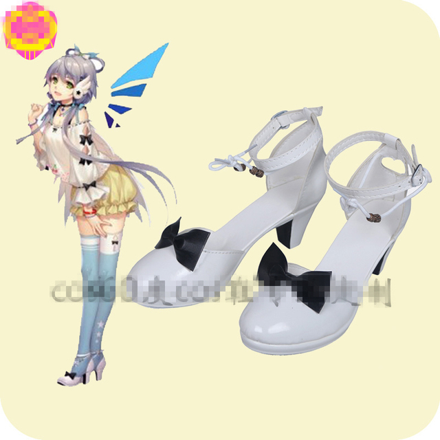 Anime japonês VOCALOID Luo Tianyi Vsinger Cosplay Shoes Hot Sale Custom Made Lolita Shoes