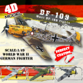 6 PCS/Set 4D Plastic Assembled Airplane World War II Germany Fighter 1:72 Scale  Assembling Military Model Toy For Children