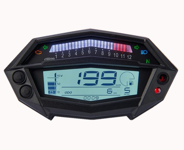 Tachometer With Hour Meter : Tiny tach gasoline engine tachometer hour meter engine glass