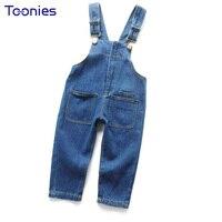 Babies Denim Trousers Loose Children Jeans Spring Autumn Zipper Denim Pants 2018 Newest Design Lovely Suspenders