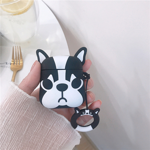 Image 3 - For AirPods Case Cute Cartoon Dog Earphone Cases For Apple Airpods 2 Cover Funda with Finger Ring Strap