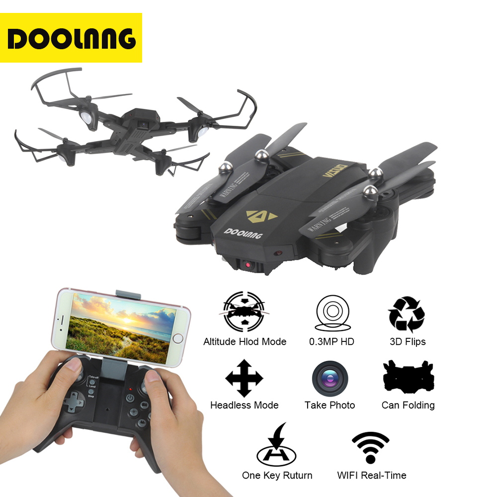 DOOLNNG XS809HW XS809W Mini Drone Camera Foldable Quadcopter Drones With Camera HD WiFi FPV Altitude Hold RC Helicopter newest apple shape foldable wifi fpv rc drone rc130 2 4g apple quadcopter with 6axis gryo with 720p wifi hd camera rc drones