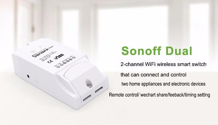 Dois Dispositivos Wi-fi Inteligente Sem Fio Swtich inteligente