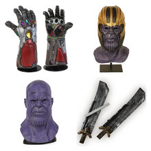 Endgame Iron Man Infinity Gauntlet Hulk Cosplay Arm Thanos Latex Handschoenen Armen Masker Superheld Thanos Wapen Party Props(China)