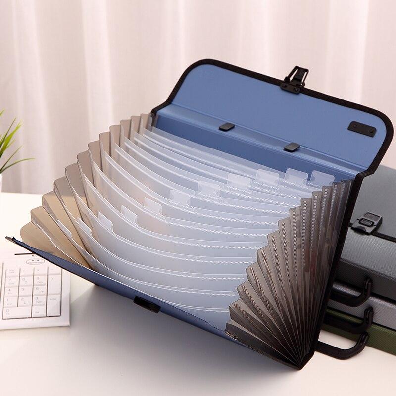 Deli 1pcs A4 File Folder Document Bags Expanding Wallet Business Series Folder Bag Office School Supplies 4 Colors