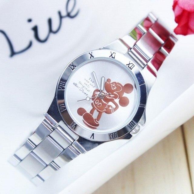 Fashion Wach Top Brand minnie desgin Luxury Watches Men Stainless Steel Strap Quartz bracelet Watch Man Relogio mickey montre