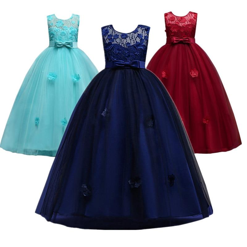 Baby Girls Party Dress 2018 Wedding Sleeveless Teens Girl Dresses Kids Clothes Children Dress for 5 6 7 8 9 10 11 12 13 14 years платье для девочек party dresses for girls baby 2 11 casual girl dress