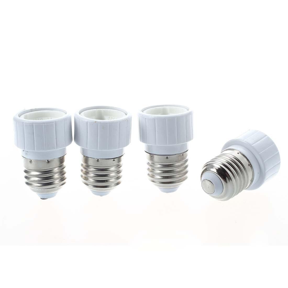 4x E27 to GU10 LED light socket adapter socket adapter lamp bulb Converter White