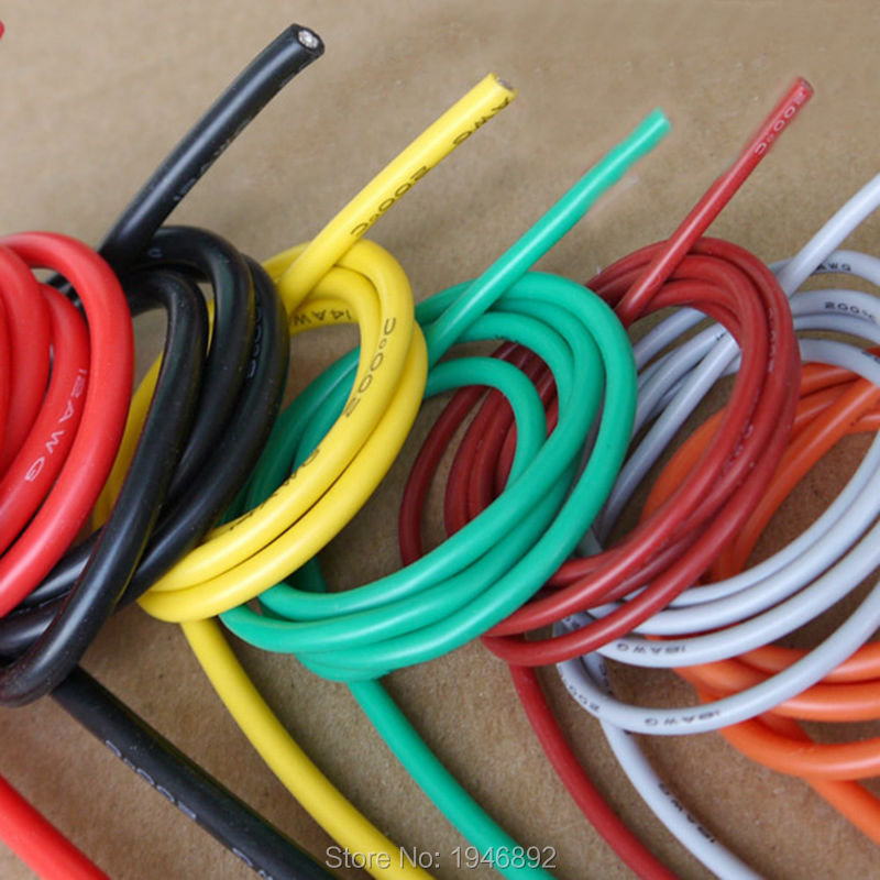 10 Meters/lot 30AWG Flexible Silicone Wire RC Cable 30AWG 11/0.08TS ...