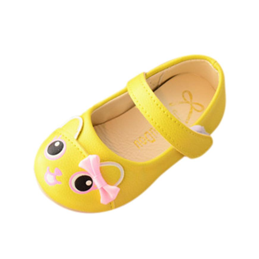 Baby shoes fashion cartoon toddler shoes female baby bow princess shoes Newborn baby shoes Todder pre-walker Y-NEW