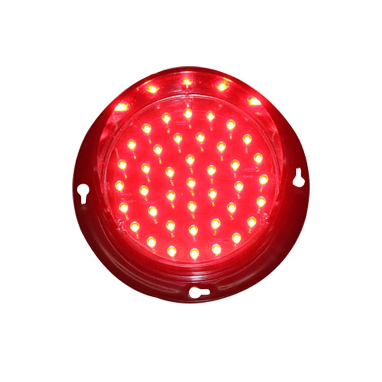 High quality mini 100mm waterproof DC 12V or DC24V red light LED traffic light replacement