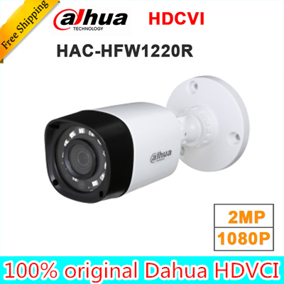 Wholesale dahua HAC-HFW1220R 1MP HDCVI IR Bullet Camera Smart IP67 1080P 2MP HD CCTV Lite Series DH-HAC-HFW1220R dahua hdcvi 1080p bullet camera 1 2 72megapixel cmos 1080p ir 80m ip67 hac hfw1200d security camera dh hac hfw1200d camera