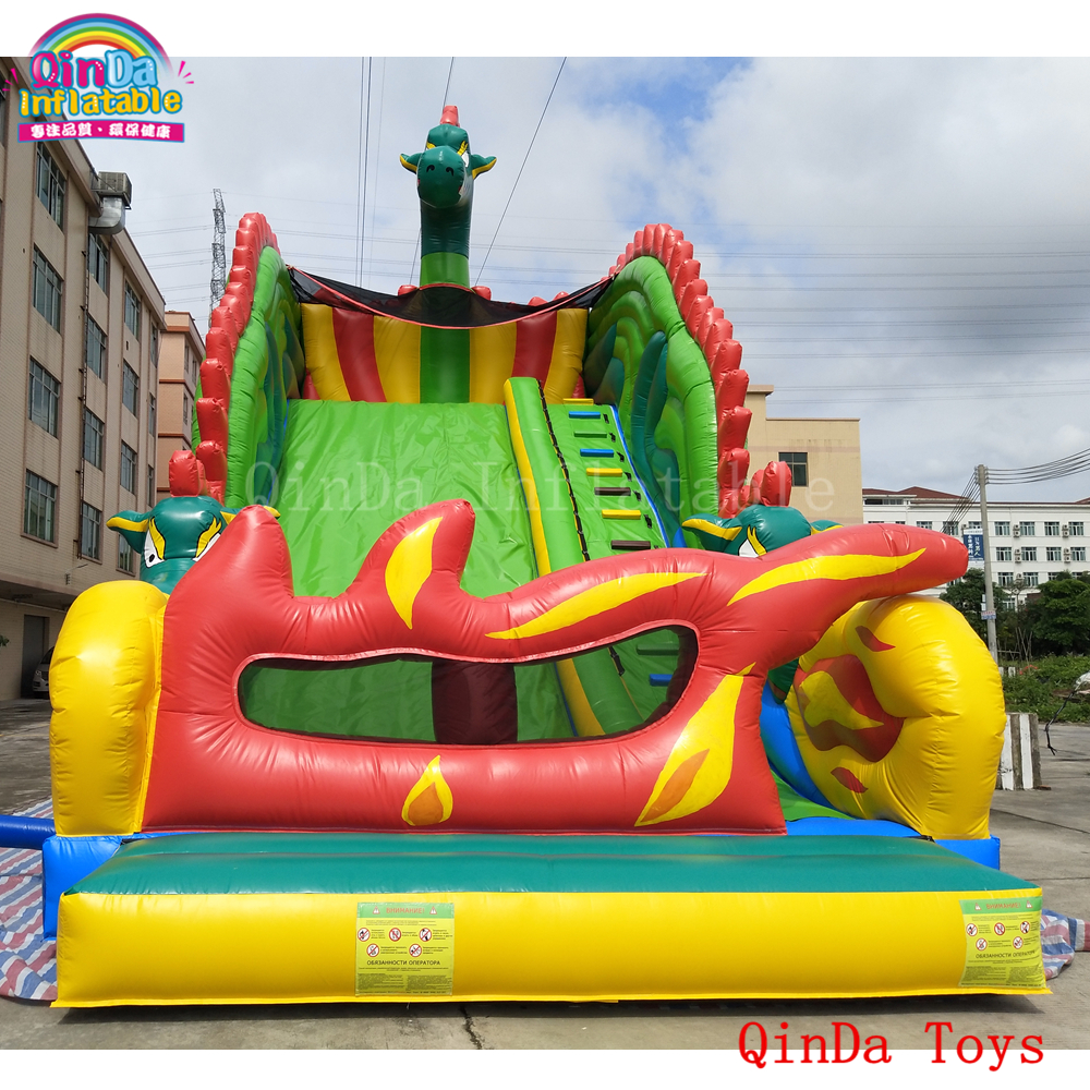 Commercial grade 11*6*7m slip n slide,big kahuna inflatable bouncer slide for kids 6 4 4m bounce house combo pool and slide used commercial bounce houses for sale