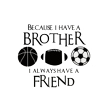 Basketball Football Soccer PVC Wall Sticker Decal Brothers Friends Kid Room  Sports Wall Mural Home Decor (Size: 40cm By 35cm)