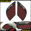 100% new high quality For Benelli 300 Motorcycle Tank Traction Pad Knee Grip Protector Anti slip sticker Black&red