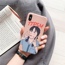 For iphone 6s 6 7 8plus case Fashion Girl For iphone XS MAX XR X Soft Case TPU Liquid Cute Protective Back Cover enkay protective tpu plastic back case cover for 4 7 iphone 6 gray