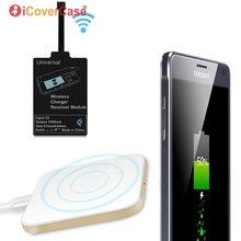 278c1db5936 Almohadilla de carga con Qi receptor para Apple iPhone 7 Plus 6 6 s 5C  iPhone 5 5S cargador inalámbrico adaptador caso claro tel.