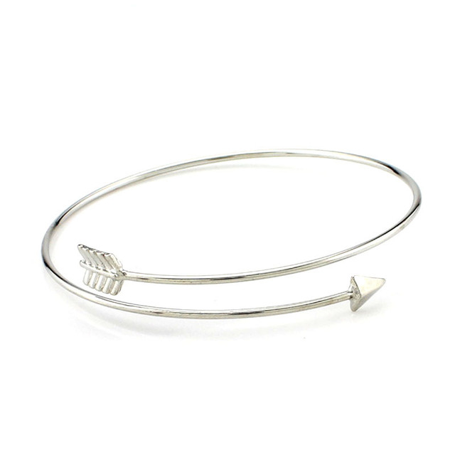 dots all silver two arrow jewellery bracelet
