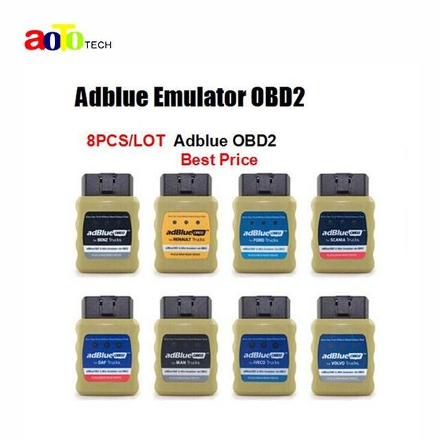 8 PÇS/LOTE DHL Livre AdblueOBD2 Marca Qualidade Adblue Emulator Adblue Emulator OBD2 Para 8 Diferentes Caminhões DHL Livre OBD2 EM VENDA