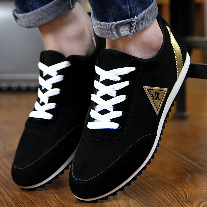 BVNOBET Men's Leather Sneakers Non-Slip Outdoor Walking Shoes Popular Rubber Sole Lace-Up Breathable Casual Shoes Mens Moccasin