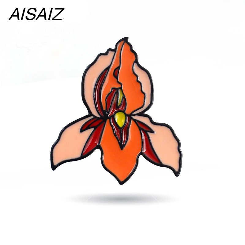 Aisaiz Alta crescere un paio Smalto Spille Utero Femminista Distintivo Risvolto Spilli e Spilla Donne Regalo del Mestiere del Metallo Dei Monili Del Collare