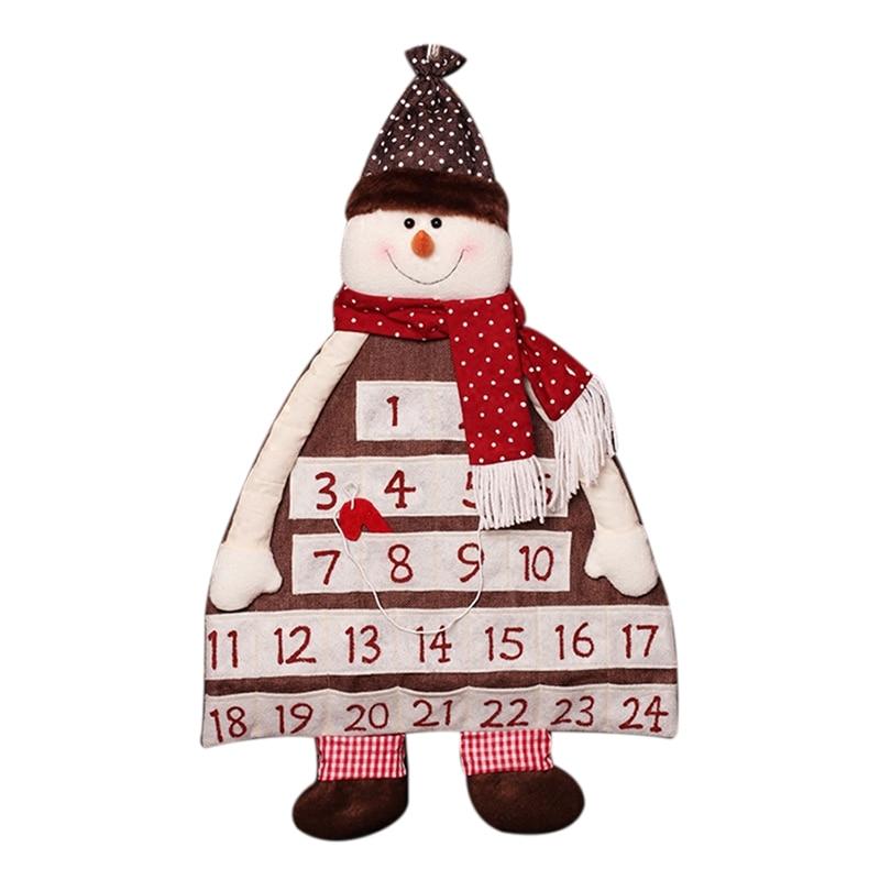 Christmas Advent Countdown Calendar Deocration For Home Ornament Gift Bags Cloth Calendar 90cm christmas calendar christmas decorations for home santa claus snowman countdown calendar new year christmas gift