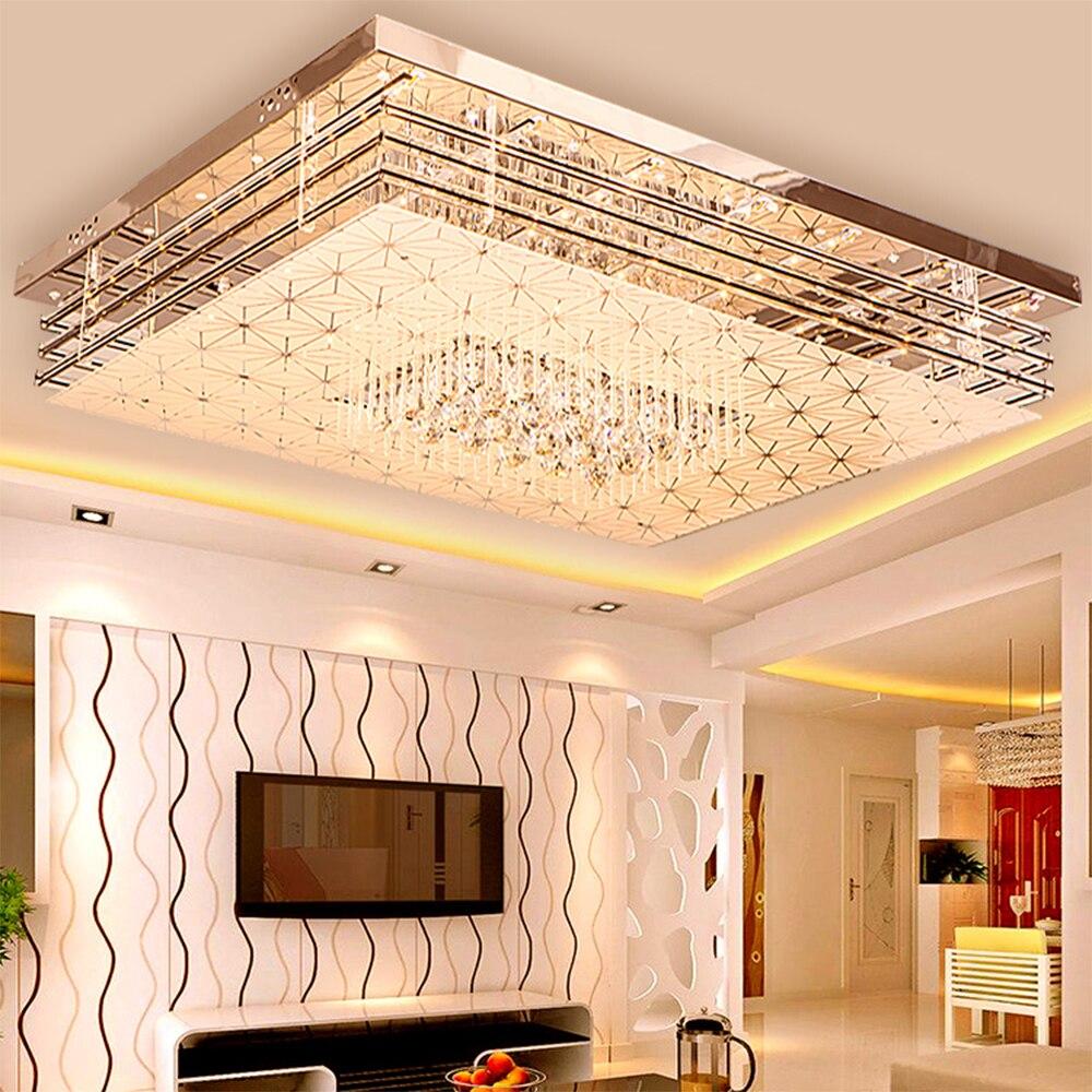 Simple moderne plafonnier maison rectangulaire lampe lustre chambre lampe salon lumières SJ8 moring ya74 cristal lampen
