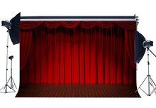 Cortina de pano de Fundo Interior Luzes Do Palco Vermelho Banda Concert Theatre Backdrops Interior Fundo Da Cerimónia de Graduação