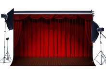 Interior Stage Lights Red Curtain Backdrop Band Concert Backdrops Interior Theatre Graduation Ceremony Background