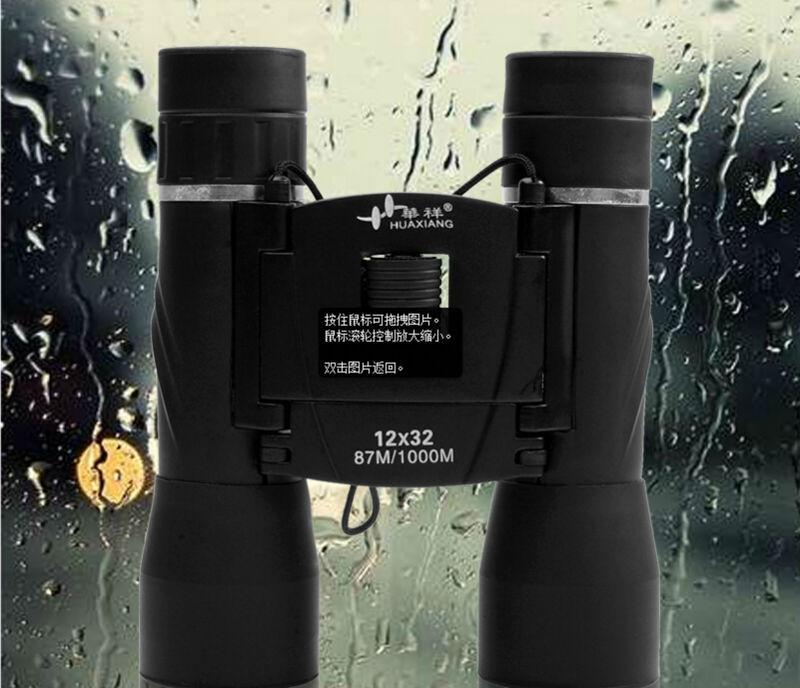 ФОТО Free Shipping Best selling 12x32 waterproof binoculars telescope Outdoor portable folding binoculars hot sale