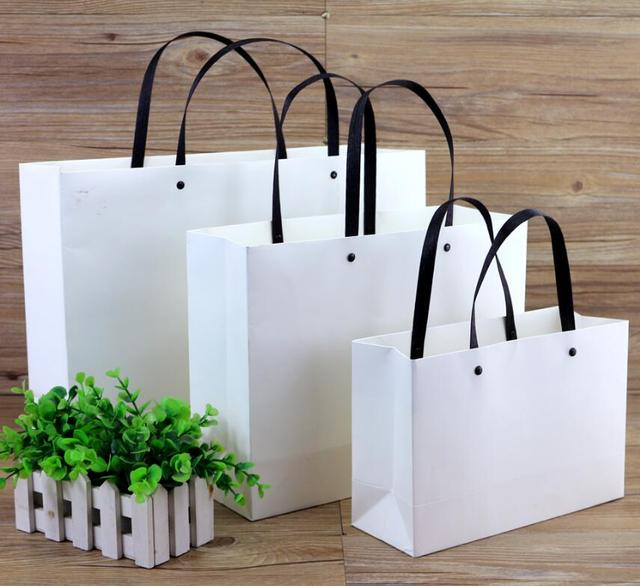 7 6 Gift Bags With Handles 20pcs Lot Black Paper For Jewelry Boutique