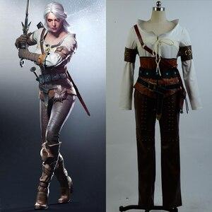 Image 2 - Ciri Cirilla Fiona Elen ensemble complet uniforme Halloween carnaval Cosplay Costume