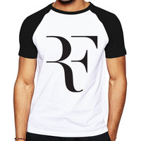 Newest Brand Clothing Summer Roger Federer T Shirt Mens RF Raglan T Shirts Fashion 100 Cotton