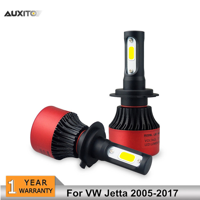 Auxito 2x H7 Canbus For Vw Jetta 2005 2017 Car Led Headlights Bulb High Low Beam 8000lm Fog Lights Headlamps