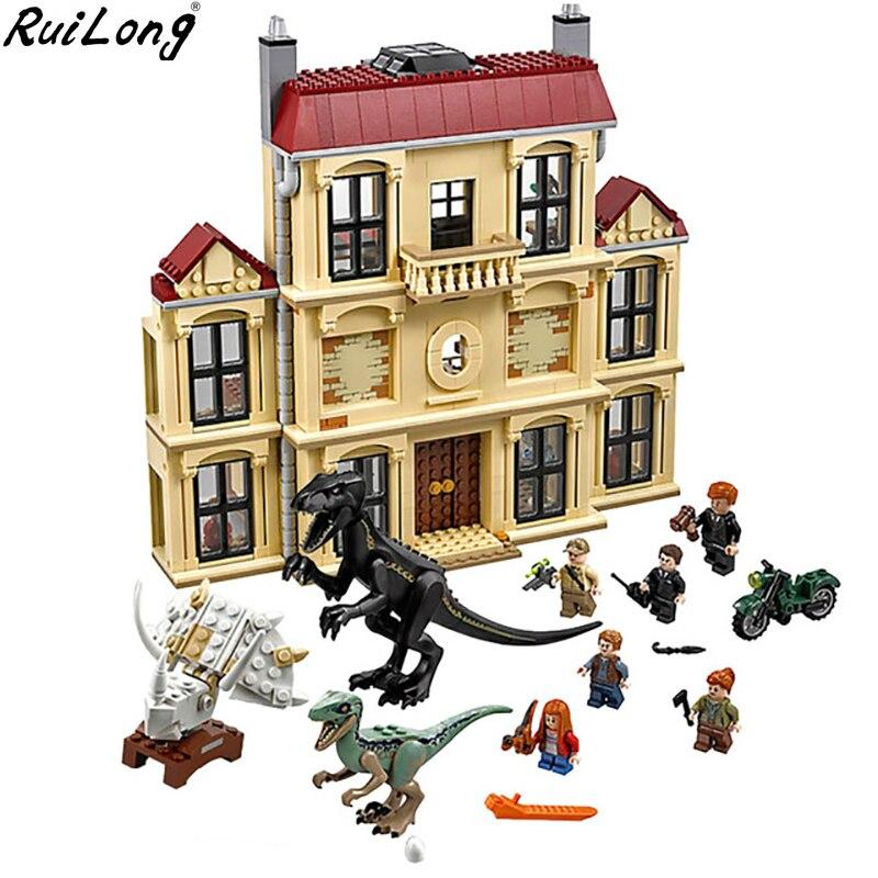 Новый мир Юрского периода Динозавр Indoraptor Rampage Совместимость Legoing мир Юрского периода 75930 Building Block игрушки Рождественский подарок
