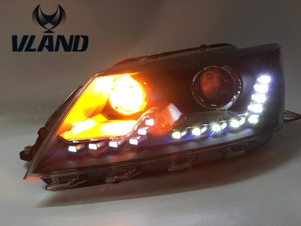 Бесплатная доставка для автомобиль фары для Фольксваген Сантана фары дневного света спрятанный объектив ксенона