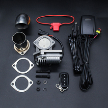 NEW Electric Exhaust Cutout Valve kit 63MM Pipe Remote Control Exhaust Valve Slight Adjustment Car Accessories Exhaust Parts цена