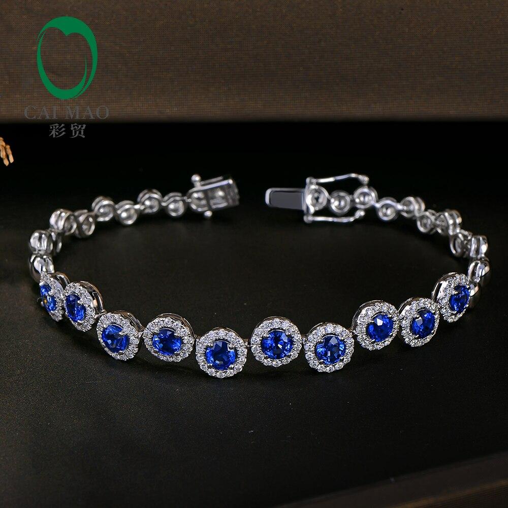 Magnifique bracelet en Or blanc et diama ...