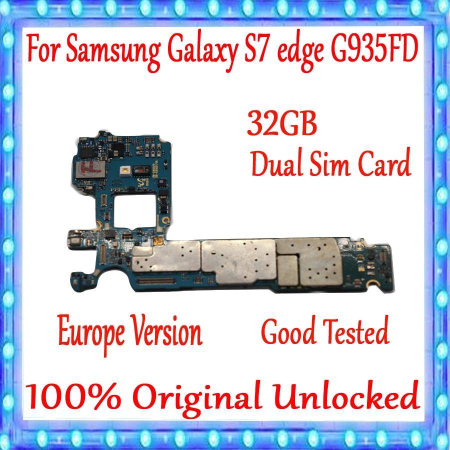 Для Samsung Galaxy S7 Edge G935FD материнская плата с двумя sim картами 100% оригинальная