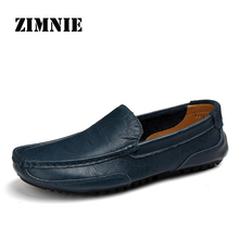 ZIMNIE Brand New Fashion Men Loafers Men PU Leather Casual Shoes