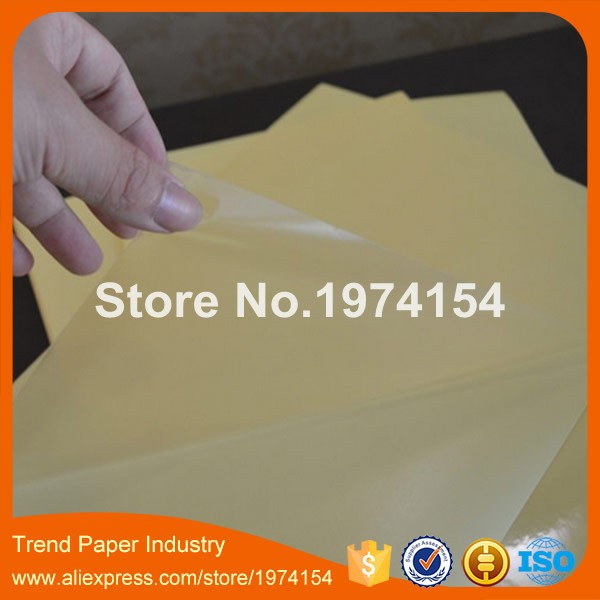 200 sheets A4 PVC Clear Transparent Film Sticker Paper Sheet Self Adhesive Glossy Fit Laser Printer